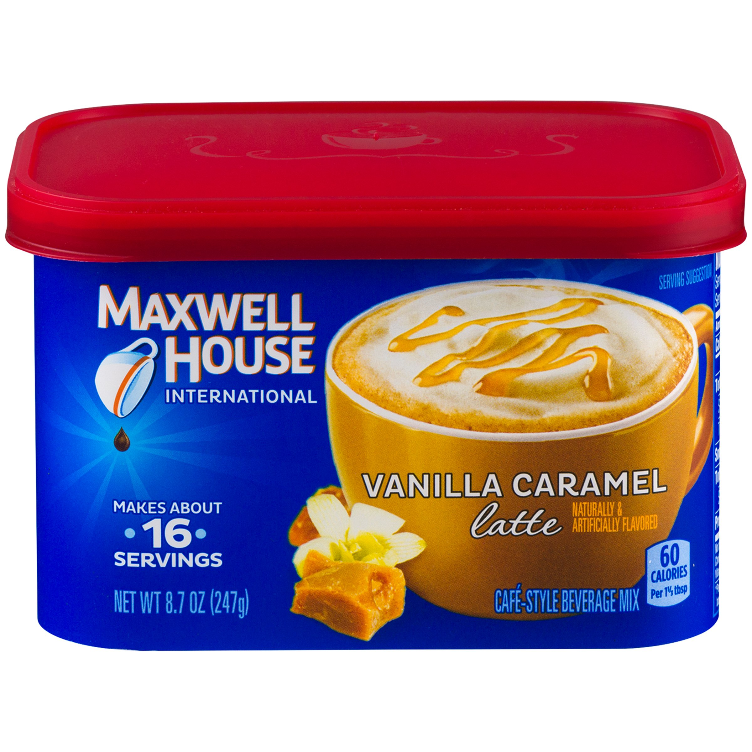 Maxwell House International Cafe Vanilla Caramel Latte (8.7 oz Canisters, Pack of 4) by MAXWELL HOUSE