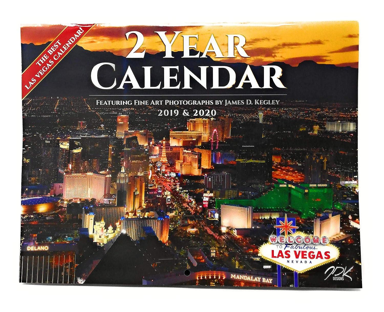Las Vegas Souvenir Calendar (2 Year = Jan 2019 to Dec 2020): Amazon