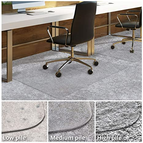 Matladin Upgraded Heavy Duty 48 X 36 Pvc Chair Mat For Carpeted