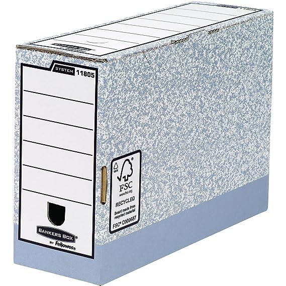 Fellowes Bankers Box - Caja de almacenaje, tamaño folio, lomo de 120 mm, 10 unidades, color verde: Amazon.es: Oficina y papelería