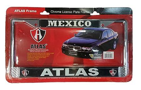 Atlas de Guadalajara oficial De La Matrícula Marco Cromado, Dorado/Rojo: Amazon.es: Deportes y aire libre