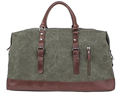 Men/'s Canvas Shoulder Handbag Travel Luggage Gym Bags Large Capacity Outdoor
