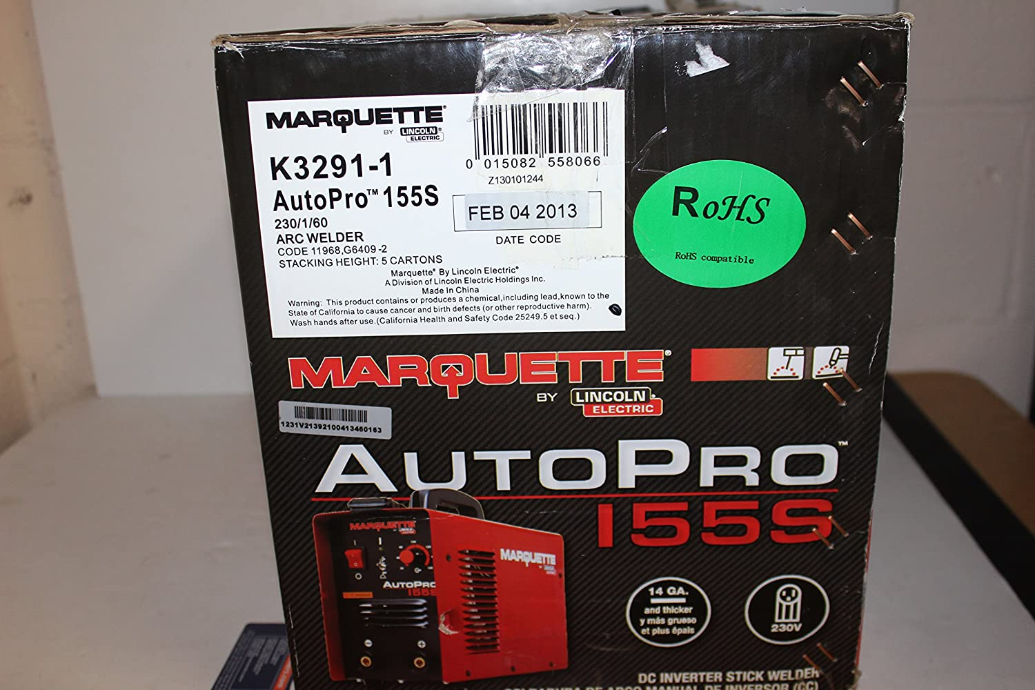 Lincoln Electric K3291 1 Marquette Arc Welder Autopro 155s Stick Dc Inverter Industrial Scientific