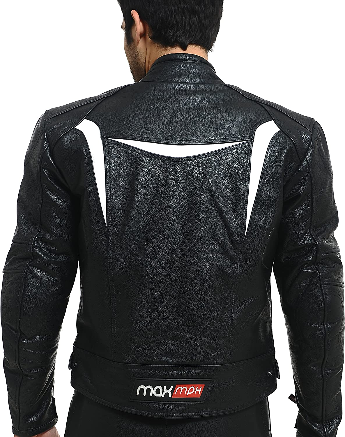 Max Mph Ultimate Pantalon de moto en cuir Protection CE amovible