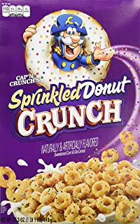 capn crunchs sprinkled donut crunch cereal - Captain Crunch Halloween