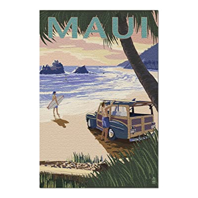 Maui, Hawaii - Woody and Beach (Premium 1000 Piece Jigsaw Puzzle for Adults, 20x30, Made in USA!): Toys & Games