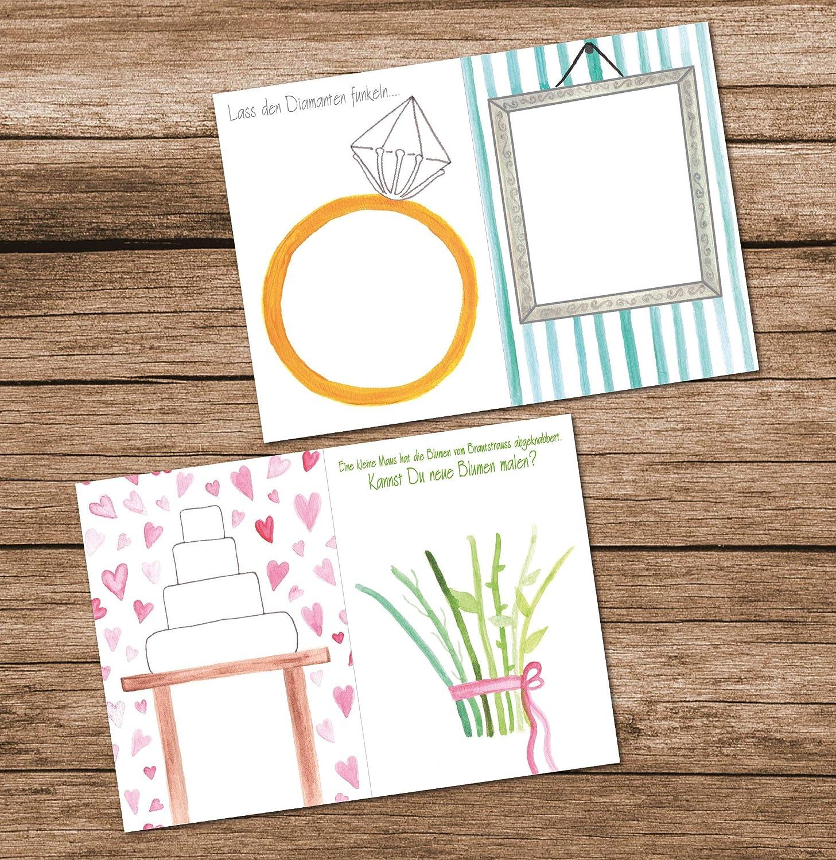 Cadeau id/éal pour les invit/és Beige vintage Lot de 10 carnets de mariage pour enfants et adultes