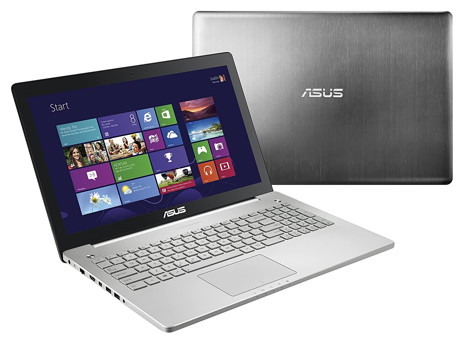 ASUS N550J 15.6-Inch Laptop (Intel Core i7-4700HQ 2.4GHz Processor, 1TB Hard Drive, 8GB RAM, Windows 8.1 64-bit) Silver Grey