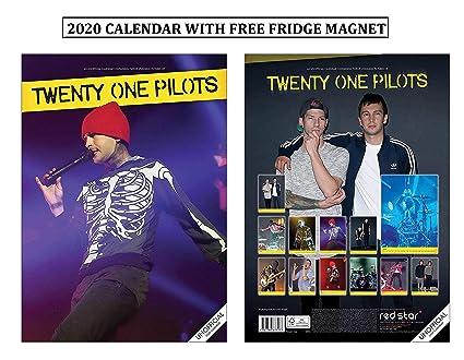 Twenty One Pilots Calendario 2020 + Veinte pilotos Imán para ...