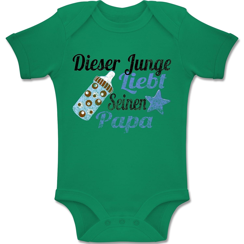 Vintage Look Baby Baby Kurzarm Body Strampler Dieser Junge liebt seinen Papa