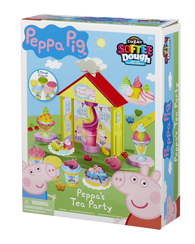 Peppa Pig 21039 - Juego de masa para fiestas de té: Amazon.es: Juguetes y juegos