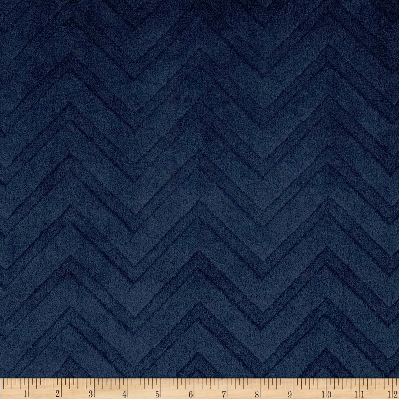 Amazon.com: Shannon Minky Embossed Chevron Cuddle Navy Fabric By ...