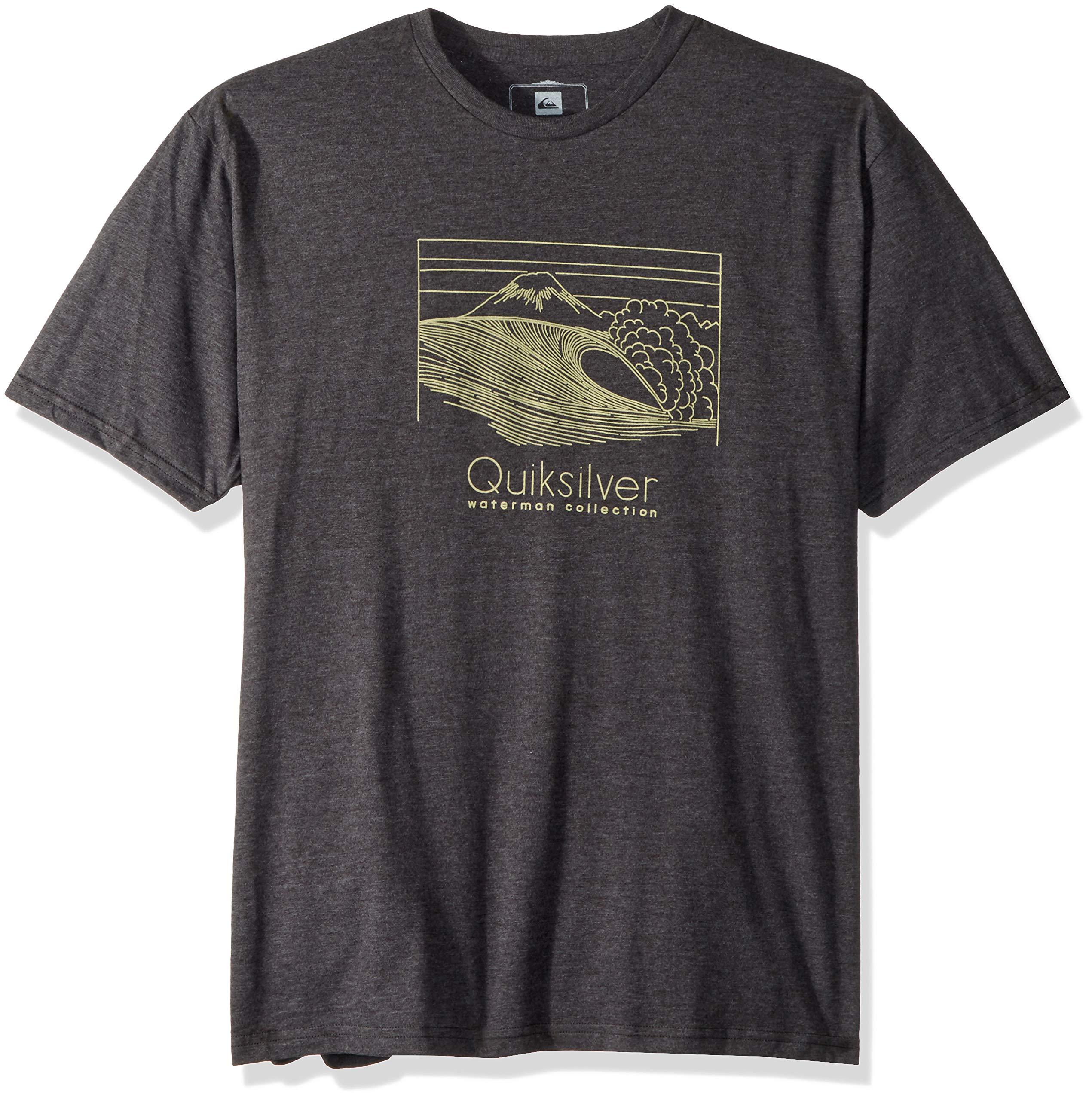 Quiksilver Men's Sketchy Scene Tee Shirt, Charcoal Heather, XL