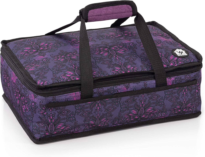 VP Home Insulated Casserole Carrier Travel Bag (Henna Tattoo)