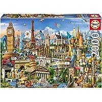 Educa Borrás- Puzzle 2000 Símbolos de Europa, Multicolor