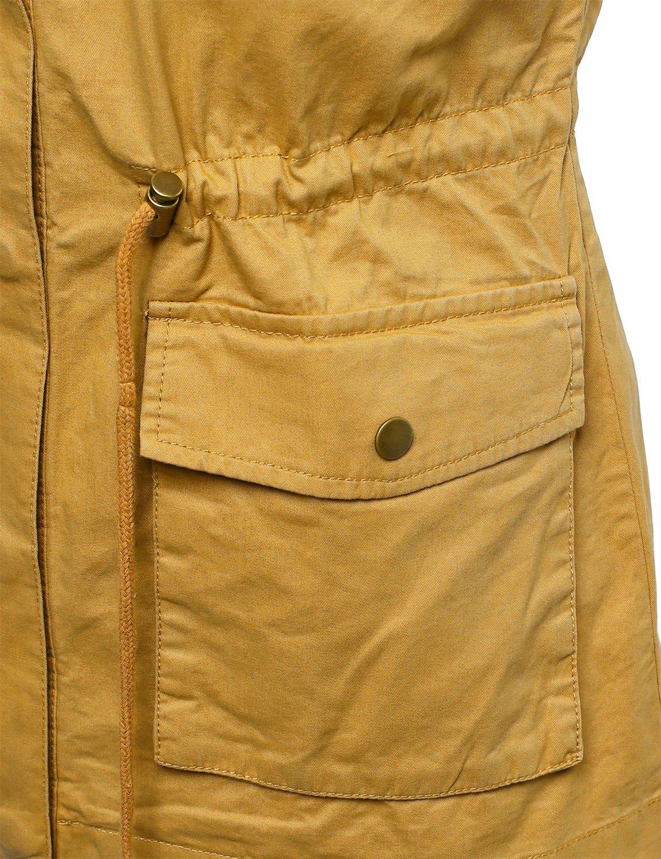 59efd12fc4669 Made by Emma Women s Sleeveless Safari Military Hooded Vest Jacket ...