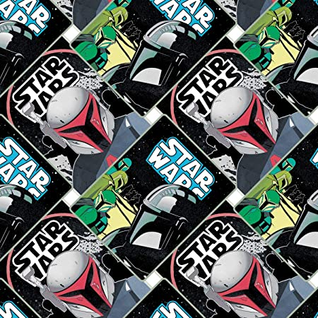 Camelot Fabrics Star Wars Mandalorian Poster Collage Print 100/% Cotton FABRIC