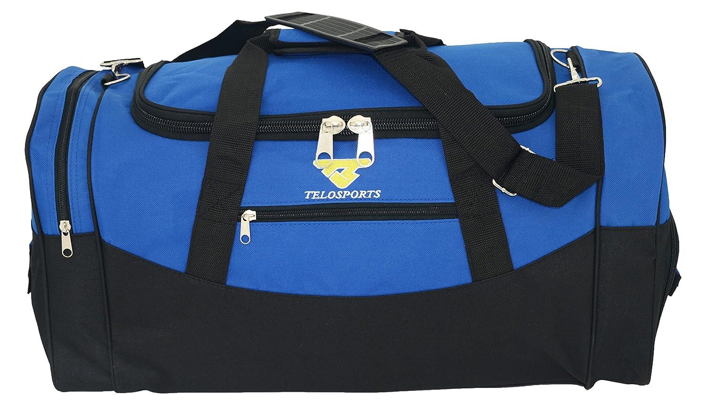 Telosports 23 Travel Luggage Sports Duffel Gym Bag with Shoe Compartment (BLACK) Bestway