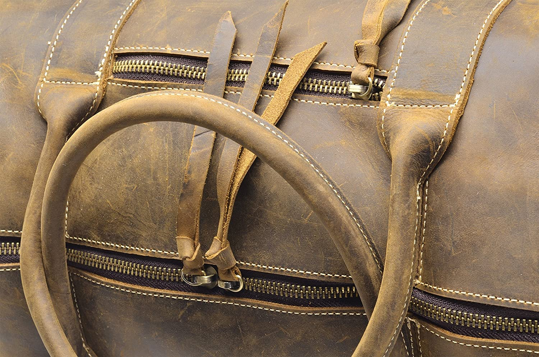 H/ølssen Genuine Leather Overnight Weekender Travel Sport Duffel Bag