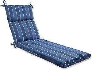 Pillow Perfect Outdoor Wickenburg Chaise Lounge Cushion, Indigo