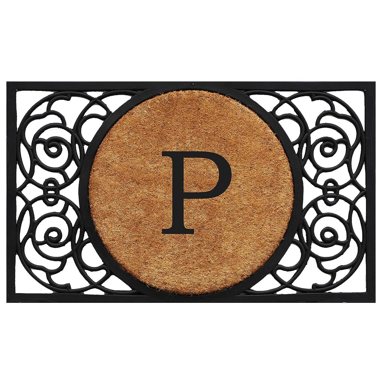 Black P Home & More 180032236G Armada Circle Monogram Doormat 22  X 36  (Letter G),