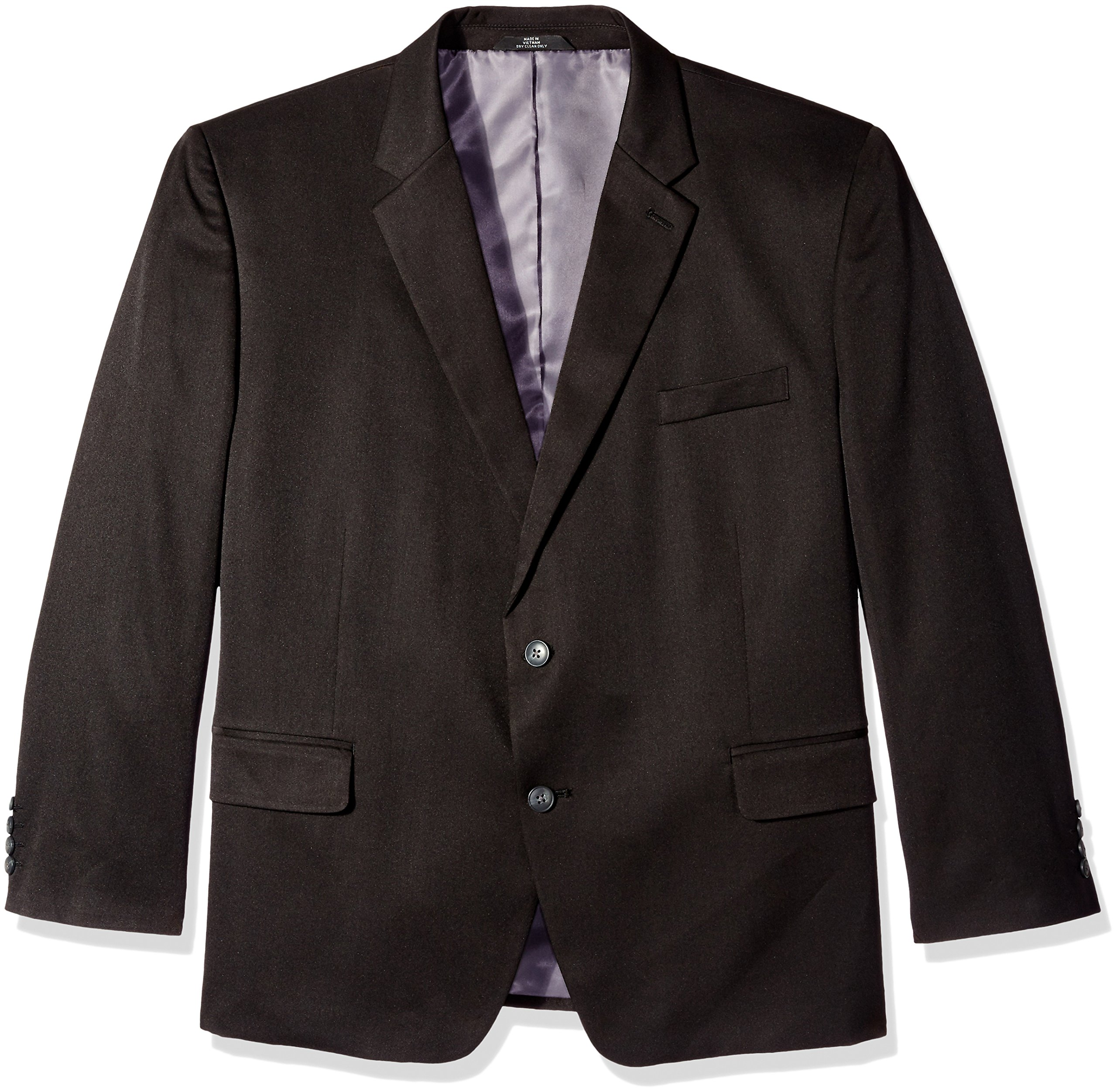 Haggar Men's Big and Tall Travel Performance Heather 2-Button Classic Fit Coat, Black, 50 Short