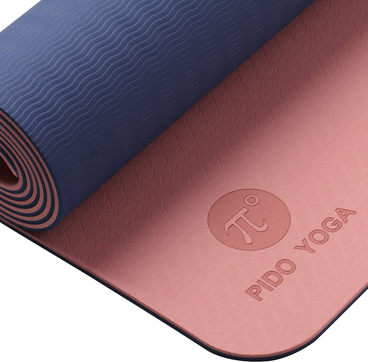 Light Weight Travel Yoga mat,Eco-Friendly Fitness Mat Non Slip with Yoga Carrier Strap /& bag,Pilates and Gymnastics Stretching Mat Perfect For Men and Women,183 x 61 x 0.6CM PIDO Yoga Mat