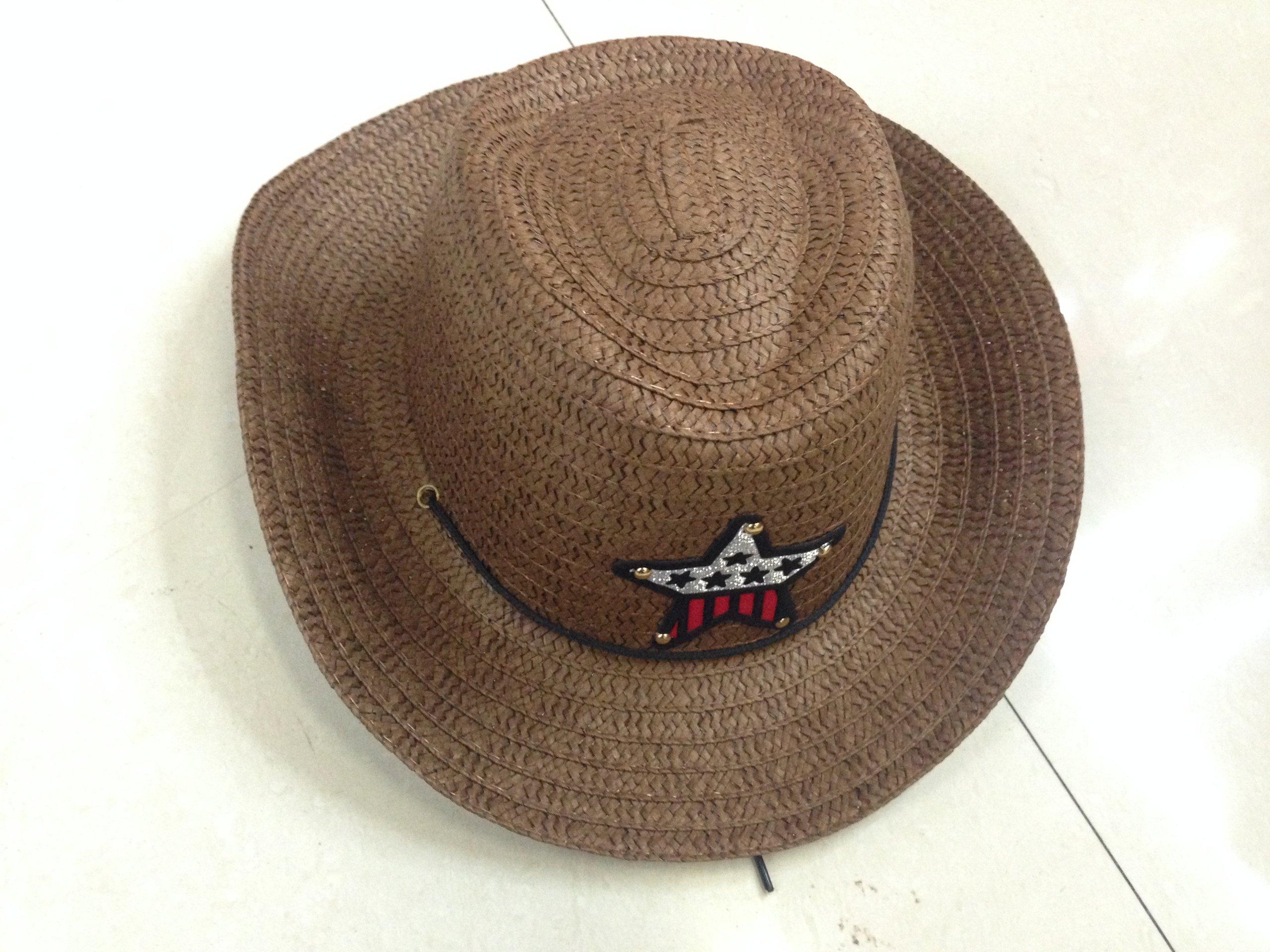 JTC Kids Straw Cowboy Boys Sun Hat Caps Coffee