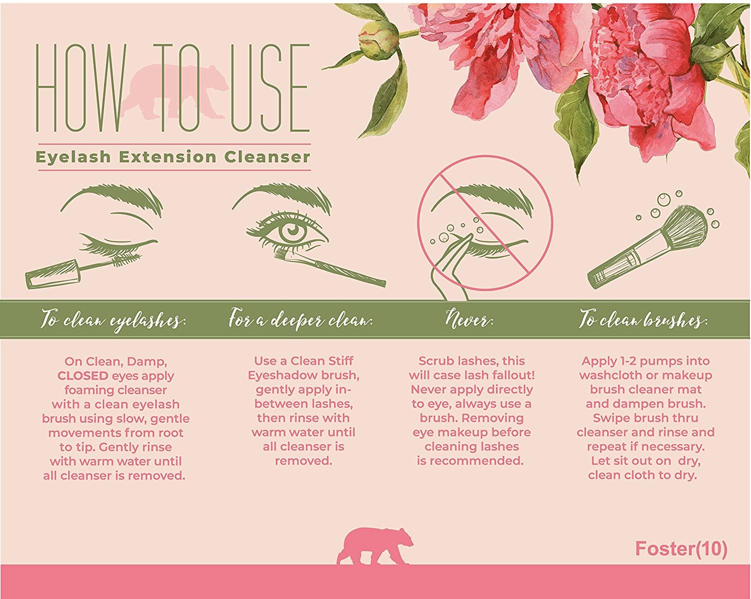 Amazon Foster10 Eyelash Extension Cleanser Foaming Safe For