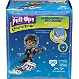 Pull-Ups Night-Time Training Pants for Boys, 2T-3T, 50 Count (Pack of 2)