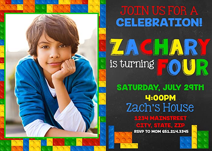 amazon com lego birthday invitation handmade