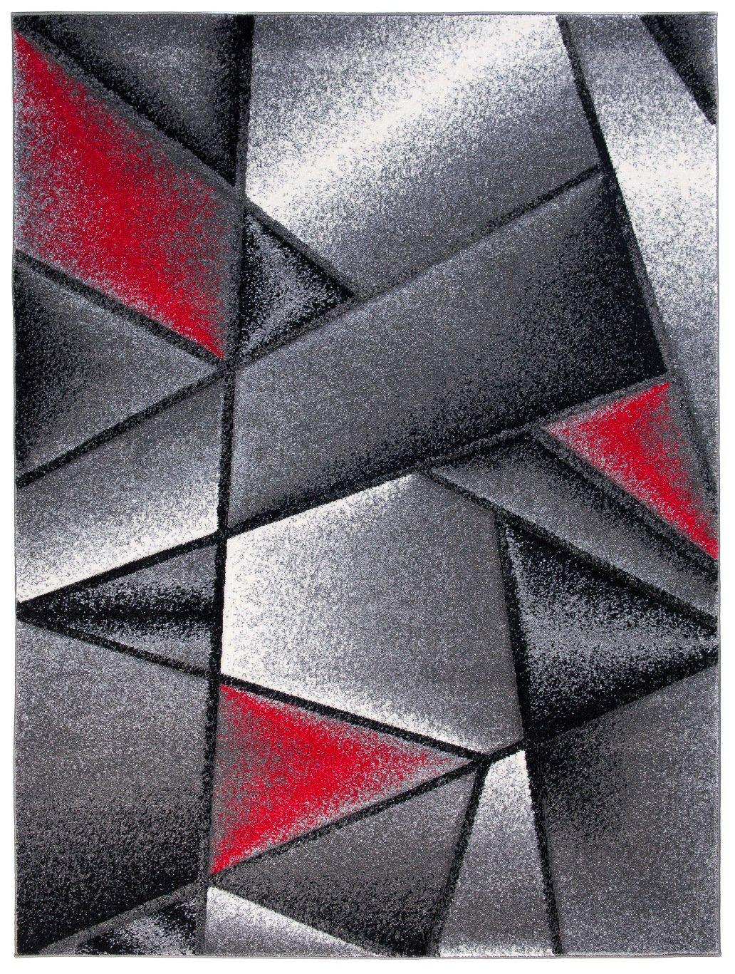 Tapiso Sumatra Teppich Kurzflor Konturenschnitt Modern Grau Grün Abstrakt Karo Viereck Muster Designer Wohnzimmer Jugendzimmer ÖKOTEX 140 x 190 cm B07DPM4V3K Teppiche