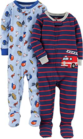 Carter's Pijama de algodón sin pies para niño (2 unidades)