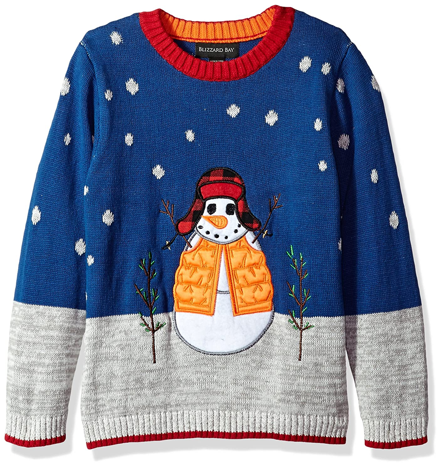 Blizzard Bay Big Boys' Snowman with Hat Xmas Sweater Blizzard Bay Boys 8-20 B65062