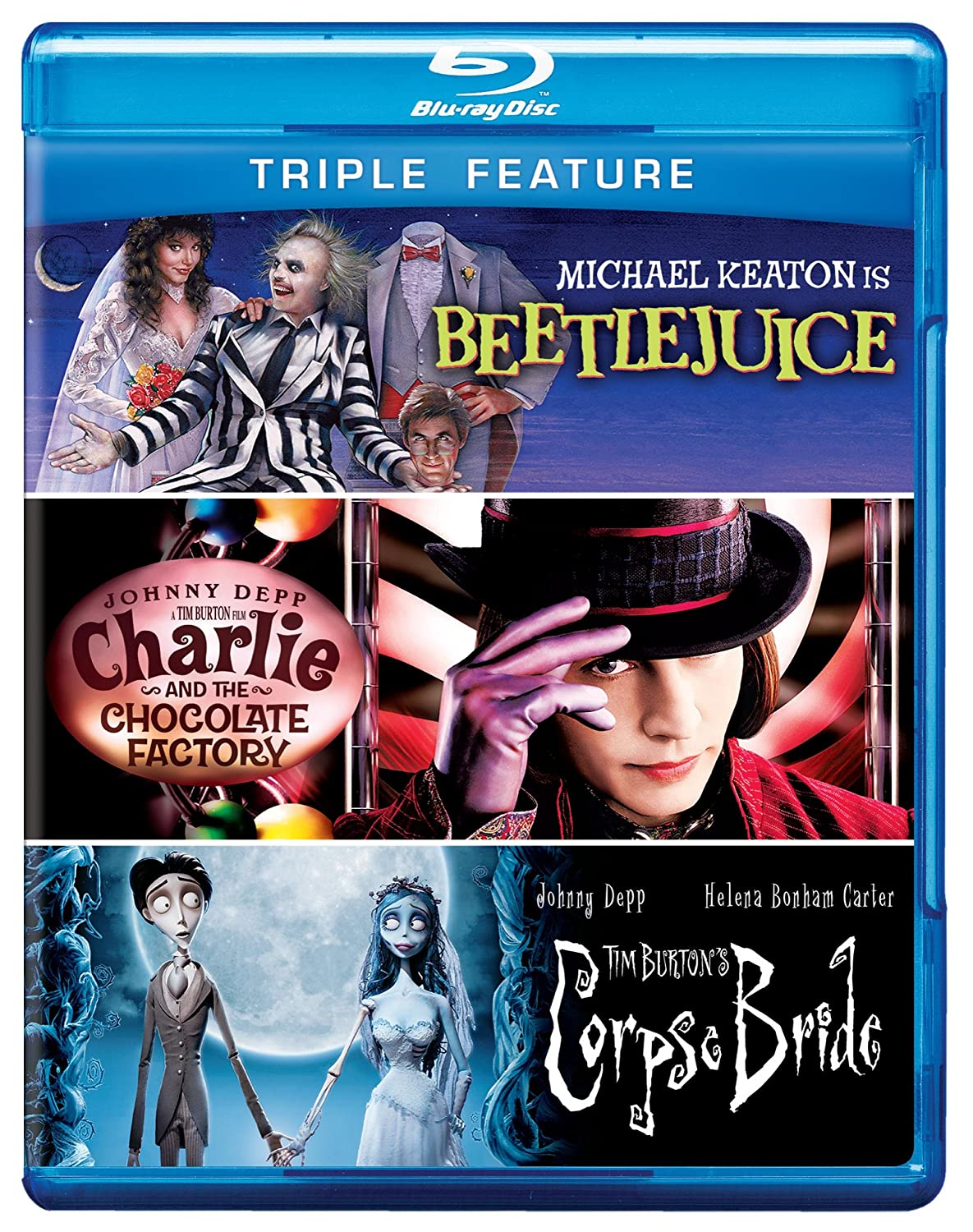 Amazon.com: Beetlejuice / Charlie and the Chocolate Factory / Tim ...