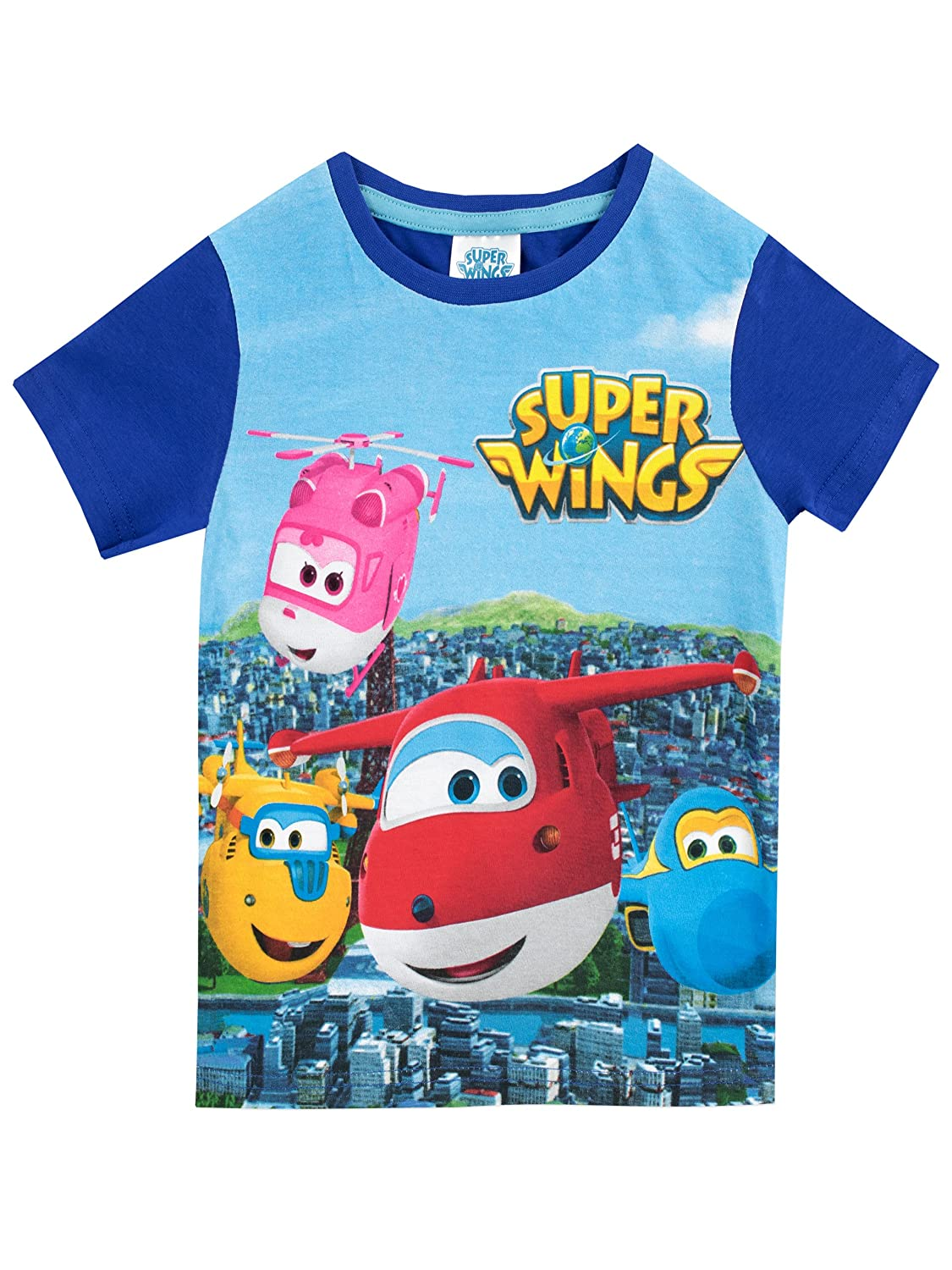 Super Wings Boys Jett Donnie & Group T-Shirt
