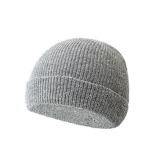 90af6833a5f LANGZHEN Winter Hats for Men and Women Warm Knit Hat Unisex Beanie  Multicolor Plain ski hat