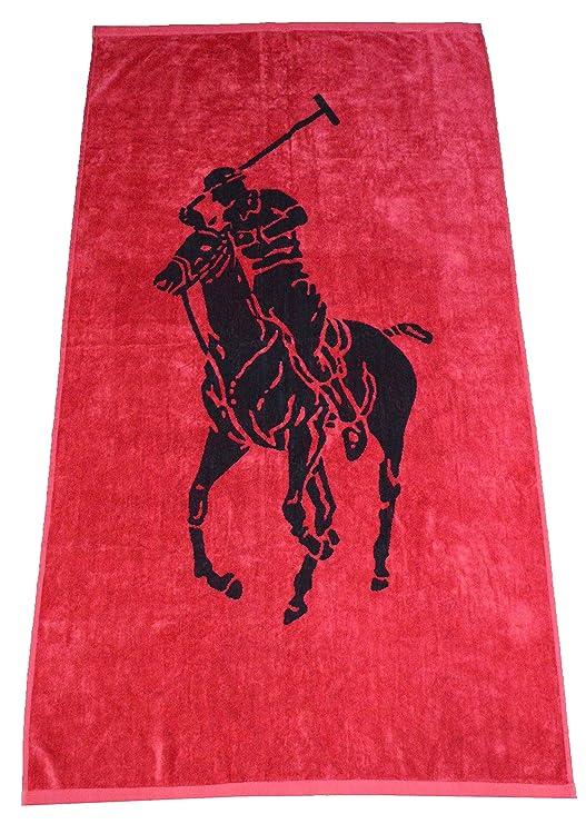 Ralph Lauren - Toalla de Playa, Color Rojo: Amazon.es: Hogar