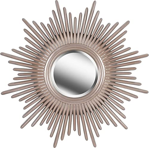Kenroy Home Modern Wall Mirror ,36 Inch Height, 36 Inch Diameter, 1.5 Inch Ext with Antique Silver Finish with Warm Highlights