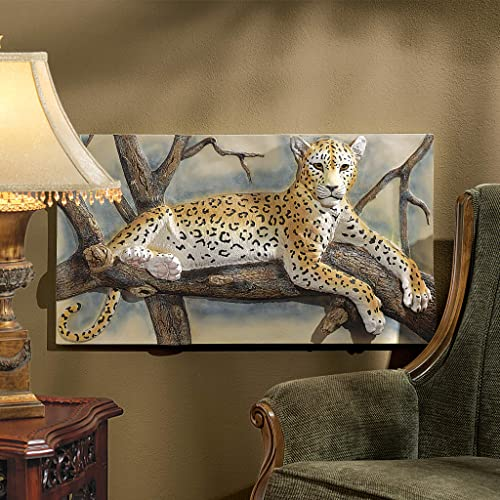 Design Toscano The Leopards Lair Sculptural Wall Frieze