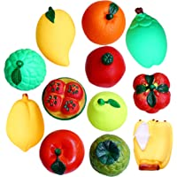 My Newborn Squeeze Toys for Babies Bath Toys, Multicolor (Pack 12 Fruits)