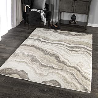 """product image for Orian Rugs Super Shag Collection 392524 Cascade Area Rug, 5'3"""" x 7'6"""", Ivory"""