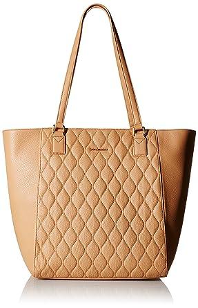 Amazon.com: Vera Bradley Quilted Ella Tote Sling Bag, Nude, One ... : quilted bags like vera bradley - Adamdwight.com