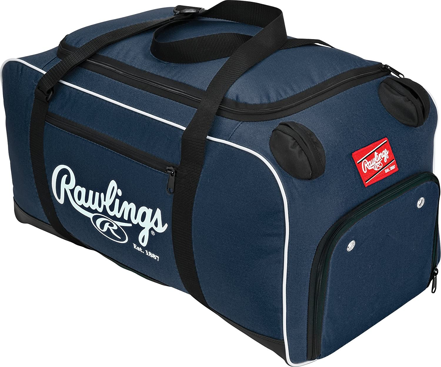 "Rawlings Covert Player Duffle Bag, Black, 26"" L x 13"" W x 13"" H: Sports & Outdoors"