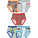 Disney Little Boys' Cars 5-Pack Brief, Colors and Prints May Vary - Multi-Colored