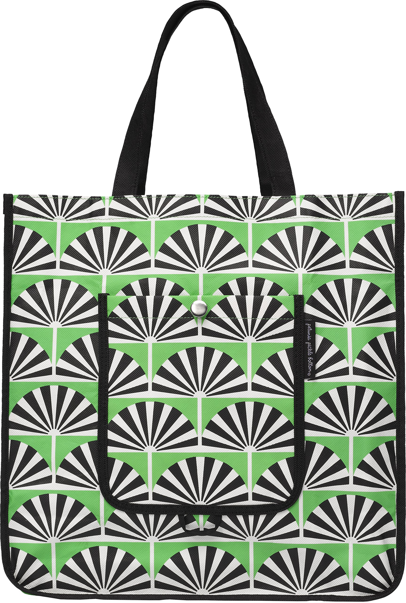 Petunia Pickle Bottom Shopper Tote in Playful Palm Springs, Green by Petunia Pickle Bottom
