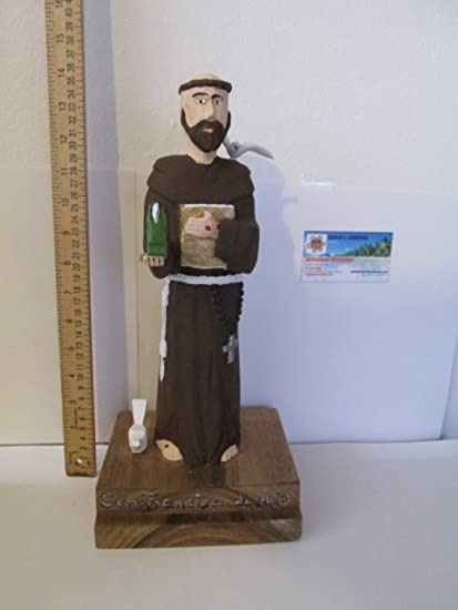 Amazoncom Saint Francis Wooden Statue Home Kitchen
