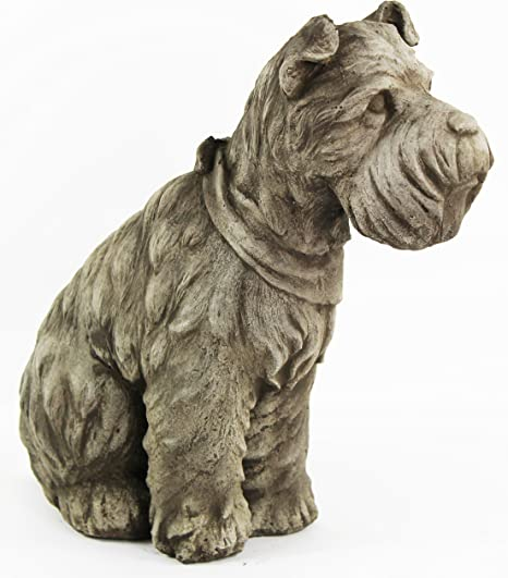 Cast Stone Cement Dachshund Puppy Dog Outdoor Garden Statue