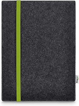 Estuche de Fieltro para Samsung Galaxy Tab S5e | Bolsa de Fieltro de Lana Merino | Modelo Leon en Antracita/Verde | Bolsa Protectora para tabletas Made in Germany: Amazon.es: Electrónica