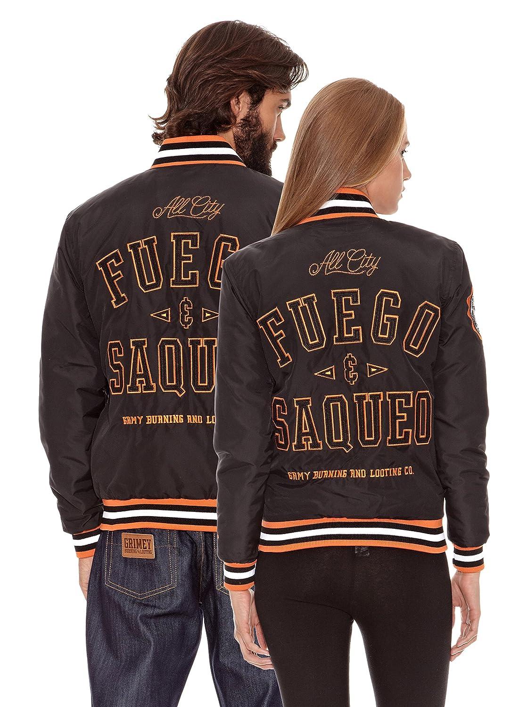 Grimey Wear Chaqueta Nylon Fuego y Saqueo Negro XL: Amazon.es: Ropa y accesorios